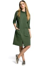 Sukienka oversize w sportowym stylu zielona m353