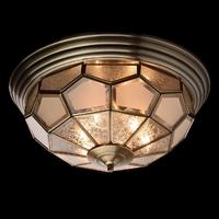 Lampa sufitowa w stylu tiffany szkło z ozdobnym wzorem, mosiądz chiaro country 397010506