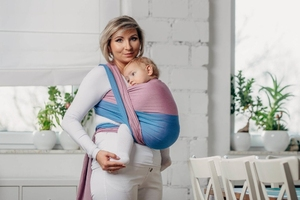Fluoryt - moja pierwsza chusta do noszenia dzieci, tkana splotem skośno-krzyżowym 100 bawełna rozmiar m