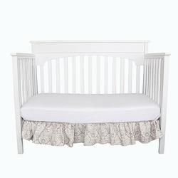 Falbana dekoracyjna do łóżeczka - ornament - beżowo-różowy