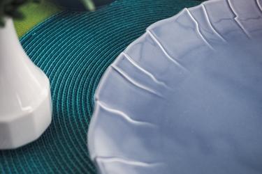Lubiana sunny półmisek owalny 33 cm szaro-niebieski