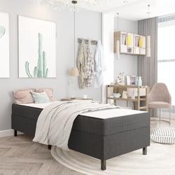 Vidaxl rama łóżka, szara, tapicerowana tkaniną, 80 x 200 cm