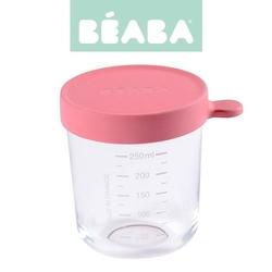 Słoiczek beaba z hermetycznym zamknięciem 250 ml - dark pink