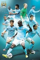 Manchester City Players 1213 - plakat