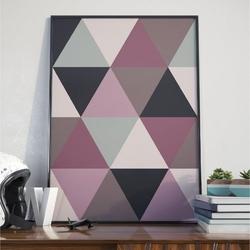 Plakat w ramie - large triangles , wymiary - 20cm x 30cm, ramka - czarna