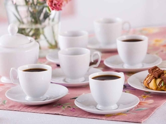 Zestaw do kawy  espresso dla 6 osób porcelana mariapaula biała