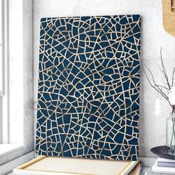 Modny obraz na płótnie - golden maze , wymiary - 70cm x 100cm