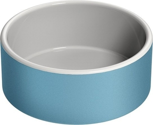 Miska na wodę dla zwierząt naturally cooling ceramics niebieska l