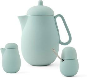 Zestaw do herbaty Nina 3 el. pudrowa zieleń