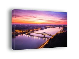 Budapeszt, poranek nad dunajcem - obraz na płótnie wymiar do wyboru: 90x60 cm
