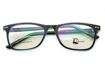 Oprawki okularowe pod korekcję lenonki st2940c czarno-błękitne