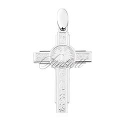 Zawieszka srebrny pr.925 krzyżyk z orłem w koronie