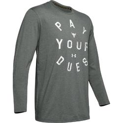 Koszulka męska under armour roject rock pay your dues ls - szary