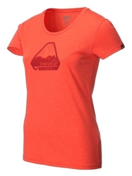 Damska koszulka inov-8 triblend ss grip koral.