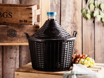 Butla  balon  gąsior do wina w koszu browin 10 l