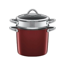 Silit - garnek z wkładem i z pokrywą do gotowania makaronu 24 cm - vitaliano rosso