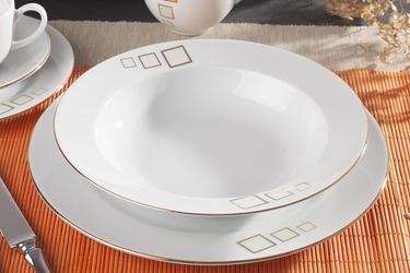 Waza amelia złota kostka serwis obiadowy i kawowy 9412