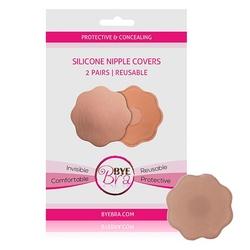 Niewidoczne nakładki silikonowe na sutki - bye bra silicone nipple - cieliste 2 pary
