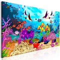 Obraz - podwodna zabawa 1-częściowy wąski