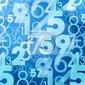 Fototapeta niebieski abstrakcyjne numery