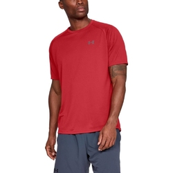Koszulka męska under armour tech ss tee 2.0 - czerwony