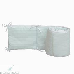 Ochraniacz do łóżeczka 60x120 - paski - miętowe