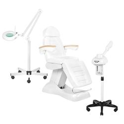 Zestaw fotel elektr. lux + wapozon jy10 + lampa lupa led s5
