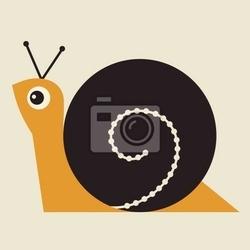Obraz ilustracja wektorowa snail