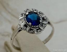 Joanet - srebrny pierścionek z szafirem