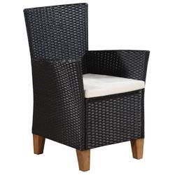 Komplet ogrodowy stół + 6 krzeseł vanto polirattan czarny