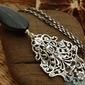 Kendra - srebrny wisior z onyksem