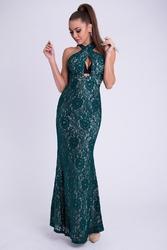 Evalola sukienka - butelkowa zieleń 26011-1