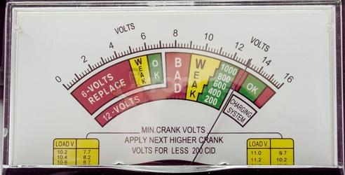 Tester miernik ładowania akumulatorów analogowy 6-12v