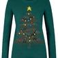 Sweter z bożonarodzeniowym motywem bonprix głęboki zielony wzorzysty