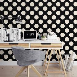 Grochy - tapeta na ścianę , rodzaj - tapeta flizelinowa laminowana