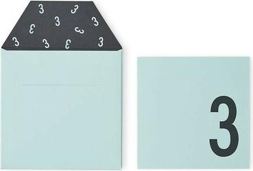 Kartka urodzinowa dla dzieci design letters miętowa 3 lata