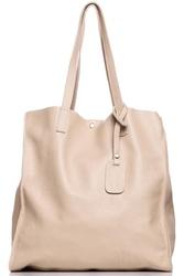 Beżowa stylowa pojemna torebka na ramię