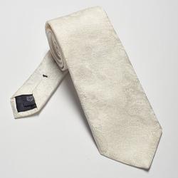 Śmietankowy krawat ślubny we wzór paisley