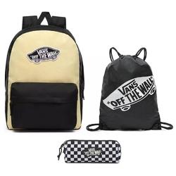 Plecak szkolny vans realm golden haze-black + worek torba + piórnik