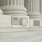 Fototapeta rząd klasycznych kolumn z kroków