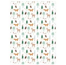 Meri meri - papier ozdobny świąteczny las