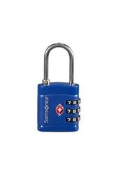 Niebieska kłódka zabezpieczająca na zamek szyfrowy z systemem tsa - midnight blue