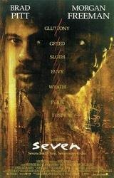 Seven Brad Pitt, Morgan Freeman - plakat kinowy