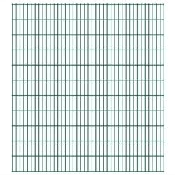 Vidaxl panele ogrodzeniowe 2d - 2008x2230 mm 20 m zielone