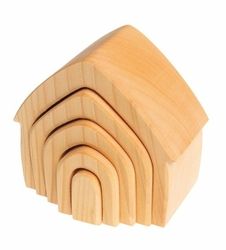 Drewniany Domek, kolekcja naturalna 1+, Grimms - naturalny