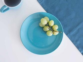 Talerz deserowy porcelanowy altom design monokolor turkusowy 19 cm