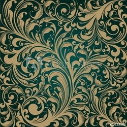 Plakat na papierze fotorealistycznym bezszwowe tło kwiatowy