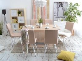 Krzesło tapicerowane dell różne kolory