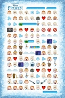 Frozen told by emojis - plakat
