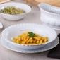 Talerz głęboki do zupy porcelana chodzież iwona złoty pasek 22,5 cm